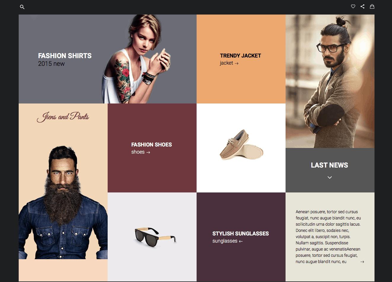 Apparel shop Desktop